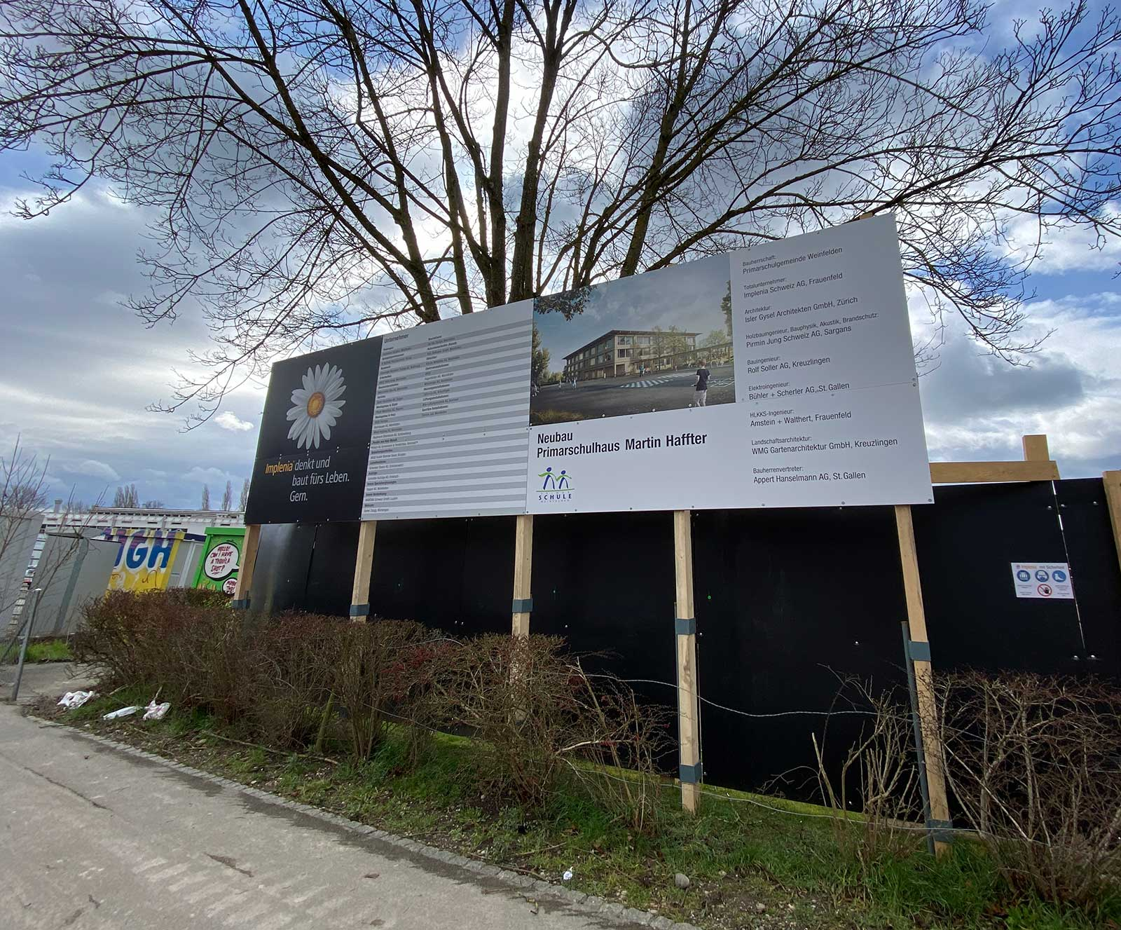 Bautafel Schulhaus Weinfelden